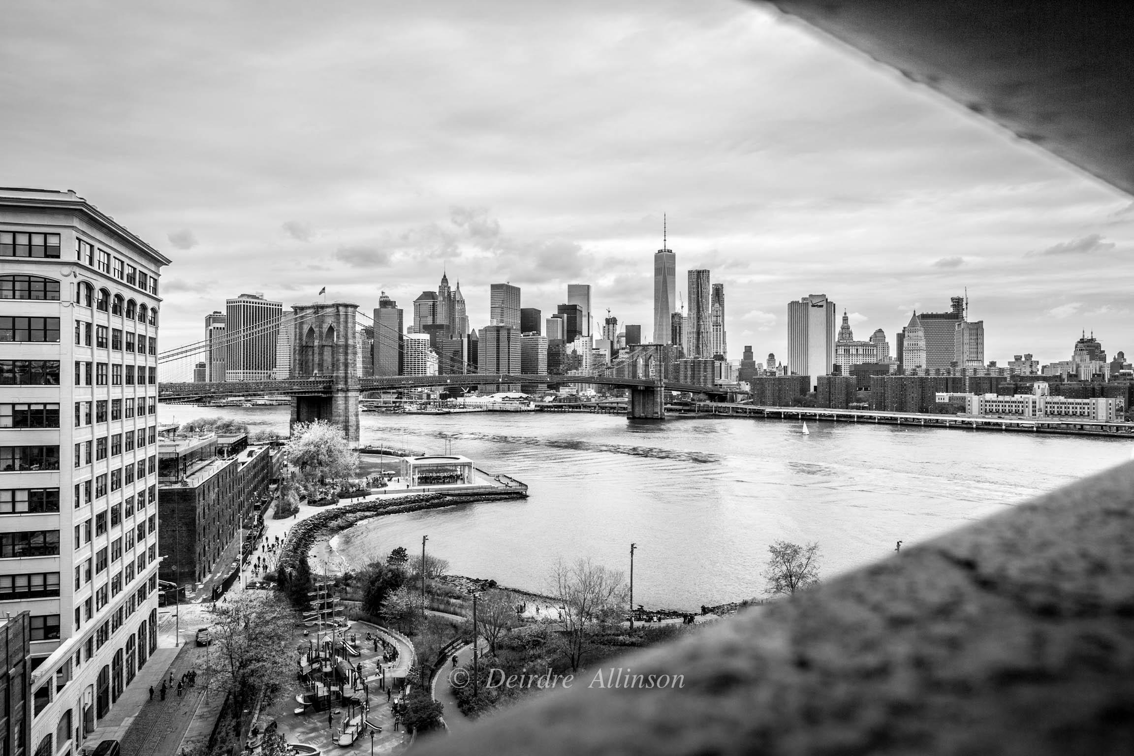 Through the Bridge, A View of Manhattan through the Manhattan Bridge