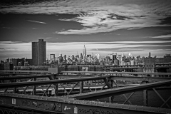 Sky over Manhattan: a View from the Brooklyn Bridge